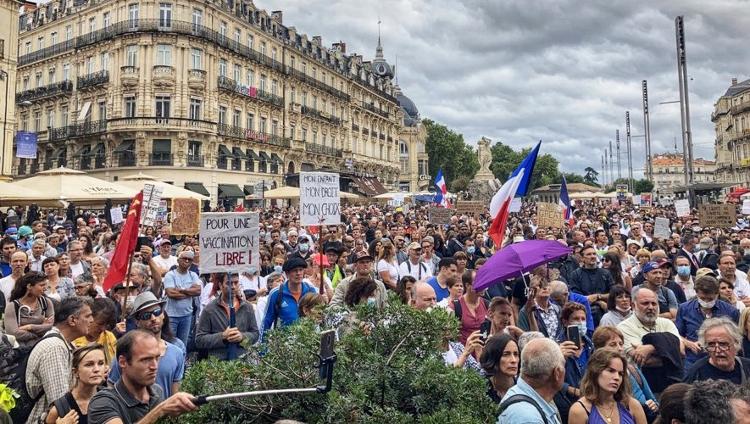 Manif du 7 août 2021 à Montpellier