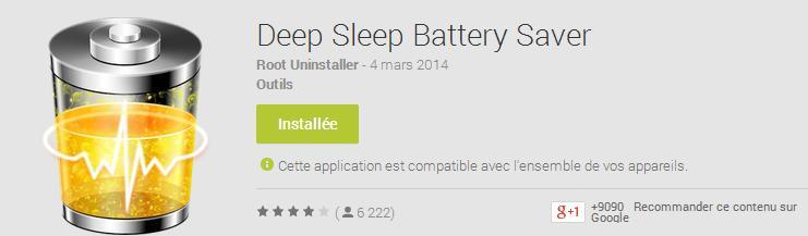 Application téléchargeable sur le Google Play Store