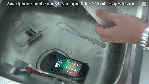 Votre smartphone tombe à l'eau ! Hara-kiri ? Non !