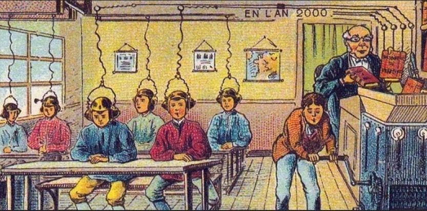Voici comment nos ancêtres voyaient l'enseignement en l'an 2000