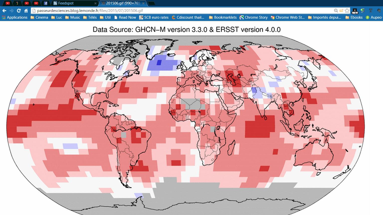Le mois de juin 2015 a été le plus chaud de l'histoire de la météorologie.