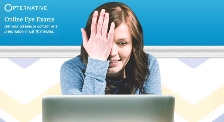 Opternative propose l'examen de votre vue en ligne