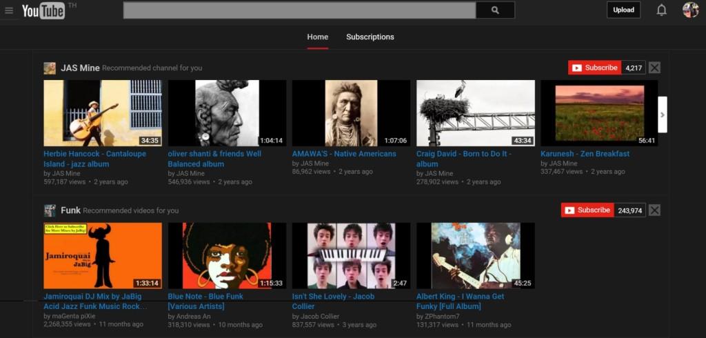 Youtube in black !