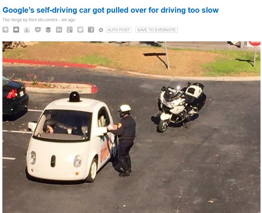 Même sans chauffeur, aux USA, les cops veillent !