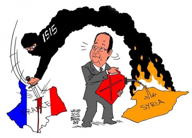 Les français reviennent aux bistrots, Hollande s'en va-t-en guerre.