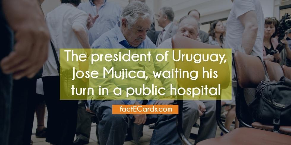 Le président de l'Uruguay, José Mujica, attend son tour dans un hôpital public (!)
