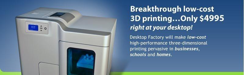Les imprimantes 3D enfin abordables !