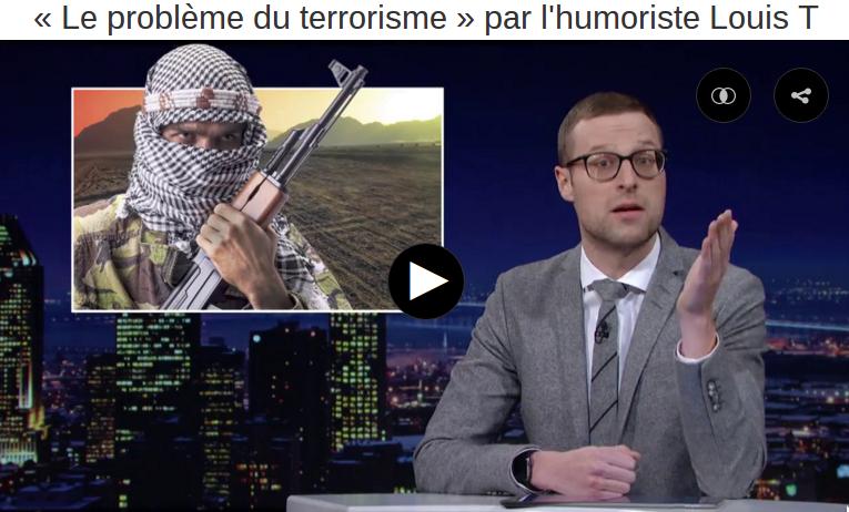 Les chiffres du terrorisme par l'humoriste canadien Louis T