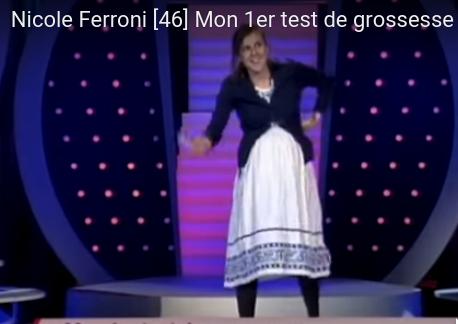 Nicole Ferroni : son premier test de grossesse