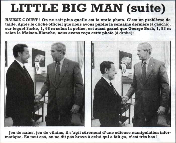 Sarkozy ; incident de l'histoire.