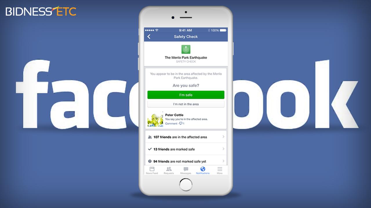 Safety check : une fonction de Facebook pour rassurer ses proches