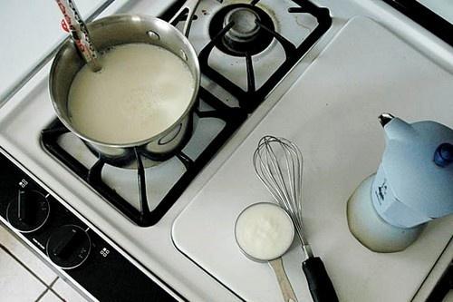 Le lait sur le feu...