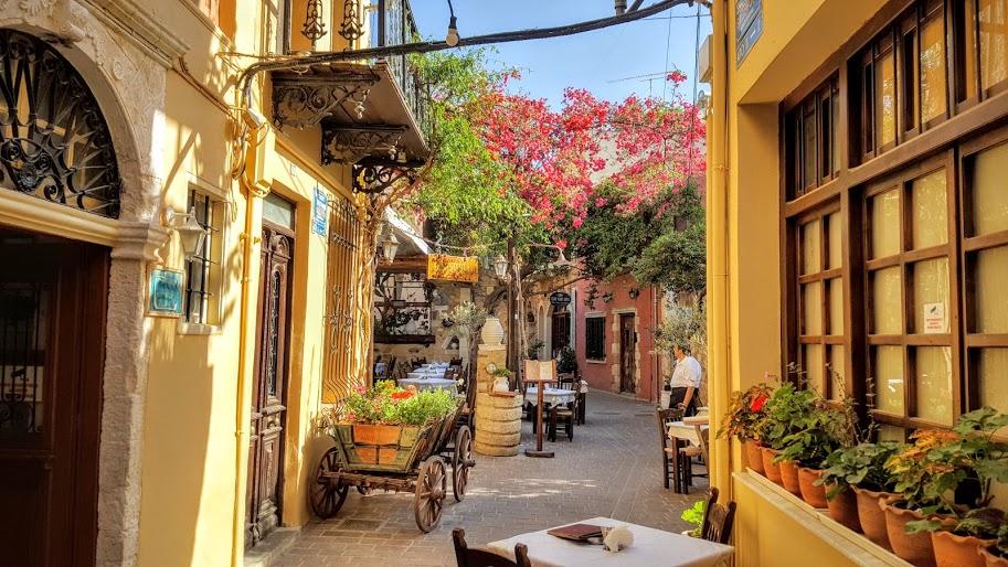 Chania, la vieille ville, près du port