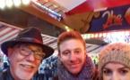 Avec Vincent et sa compagne à la fête foraine de Hyde Park.