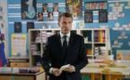 Emmanuel Macron avant son interview par Jean-Pierre Pernaut sur TF1, le 12 avril 2018. | Yoan Valat / POOL / AFP