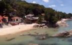 Koh Phangan, Thaïlande, vue depuis un paramoteur