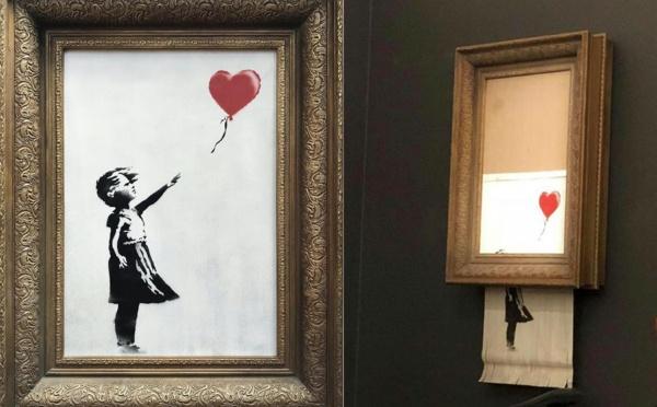 Banksy s'auto détruit à Sotheby's