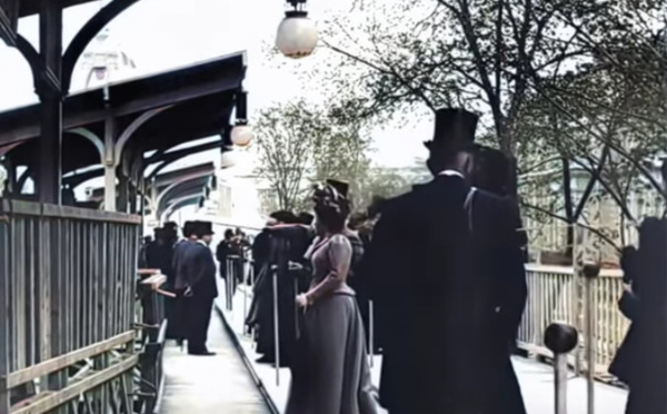 Paris en 1889, comme si vous y étiez, en 60 fps, avec la couleur et le son !