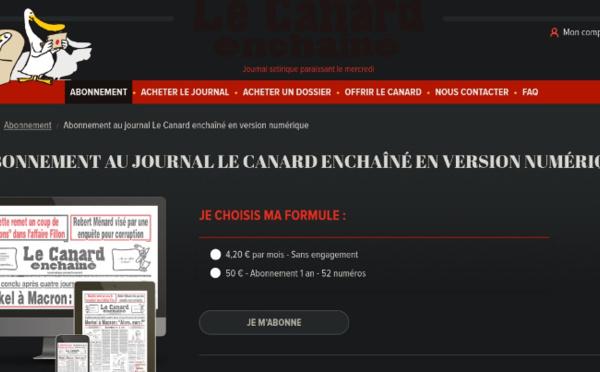 Le vénérable Canard Enchaîné propose enfin des abonnements numériques !